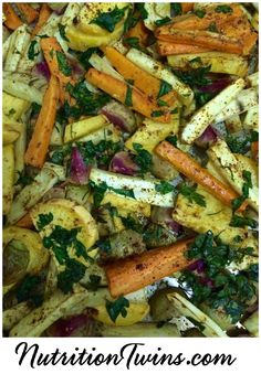 Roasted Detoxifying Vegetables | Only 88 Calories | Flushes Bloat, Neutralizes Damaging Particles, Toxins| Deliciously Addictive | For MORE RECIPES & Nutrition Tips please SIGN UP for our FREE NEWSLETTER www.NutritionTwins.com