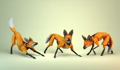 Lobo Guara - Low Poly Concept on Behance