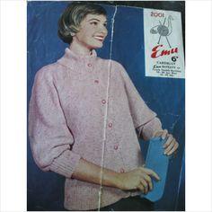 """Vintage Emu knitting pattern 2001 ladies cardigan Bust 34"""" - 40"""" on eBid United Kingdom"""