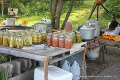 Bacon and Eggs : Outdoor Canning Station