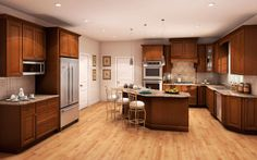 Lowe's Kitchen Cabinets in Stock | Fabuwood Elite Cinnamon Glaze In-Stock Kitchen Cabinets & Vanities