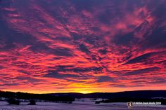 January Sunrise over the Baraboo Hills - www.skilletcreekphotography.com