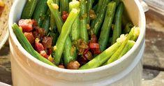 Auch Spätsommer und Herbst bieten herrliche Gemüsegerichte, zum Beispiel grüne Bohnen als traditionelle Beilage zu Lamm.