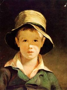 1943 Rotogravure Torn Hat Thomas Sully Museum Fine Arts Boston Boy Child Jacket | eBay