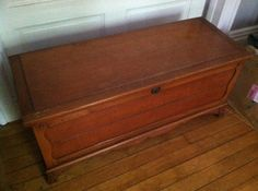 Antique Cedar Hope Chest / Trunk By Cavalier #124 Combination Lock