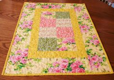 Quilted Table Runner Spring Table Runner by SharleesQuiltCottage