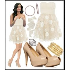 """Demi Lovato Unbroken 2011 Dress Like Demi Style Light Tan Nude Color"" by inspiremebaby on Polyvore"