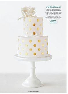 Gold polka dot wedding cake