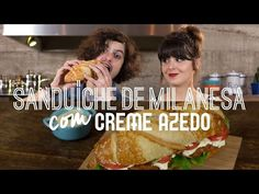 Sanduíche de Milanesa de porco com Creme Azedo..ôhhh delicia!