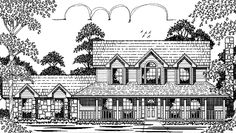 Eplans Farmhouse House Plan - Three Bedroom - 1952 Square Feet and 3 Bedrooms from Eplans - House Plan Code HWEPL74724