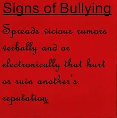 Signs of bullying. Signs of being stalked by someone obsessed with you and your family.