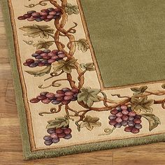 Grapes Napa Border Area Rugs. Kitchen Wine DecorWine ...