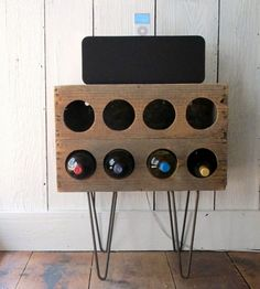 DIY Rustic Wine Rack Of A Crate | Shelterness