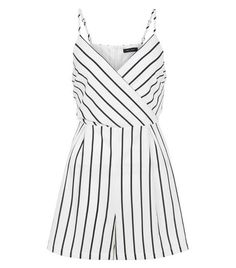 Discover the latest trends at New Look. White Romper, Striped Jumpsuit, Cocktail Jumpsuit, New Look Women, Jumpsuit Pattern, Playsuit Romper, Kpop Fashion, Playsuits, Clothes For Women