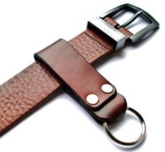 Customizable Leather  Key Chain with Key Ring by seattleleather,