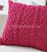 Resultado de imagen para almohadones tejidos dos agujas