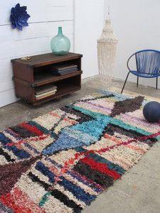 rug vintage Morrocan Tapis boucherouite 145 x 300