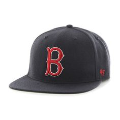 314b6e2f6b0 Boston Red Sox 47 Brand Navy Cooperstown Hole Shot Wool Fitted Hat Cap