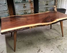 YOUR Custom Listing- Gorgeous Live Edge Walnut Coffee Table #ad