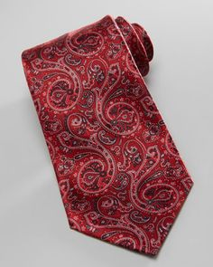 Paisley Silk Tie, Red by Stefano Ricci at Bergdorf Goodman.