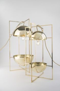 LONDON DESIGN FESTIVAL - The Bauhaus inspired Exhibit Light & Bowl by MEJD #lighting #contemporarydesign