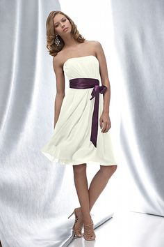Pretty! I would love the color of the dress to be purple and the tie white.