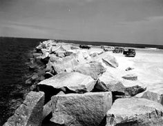 Florida Memory - Jetties - Mayport, Florida 1953 - Fished from here many times.
