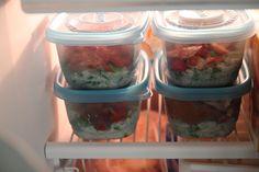Bran Appetit » Homemade Frozen Burrito Bowls
