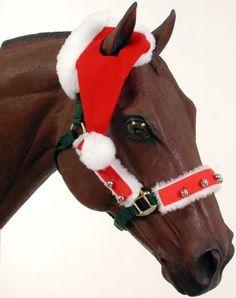 Santa One-Ear Horse Cap | ChickSaddlery.com