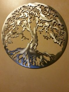 Here is an enormous 3 foot Tree of Life I made today for a health food store on the East Coast. It will hang behind the checkout counter. It has a brushed stainless steel finish with 3 thick layers of clear coat for years of protection. If you are interested in any of my art please email me at metal.art.of.Wisconsin@gmail.com