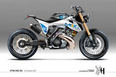 KTM 250 SX - Visualizing Custom Motorcycles by Holographic Hammer ~ www.motorivista.com