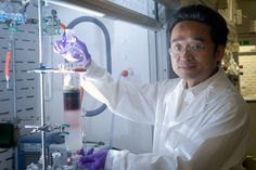 A low pH level has been linked to ischemia, cancer and cystic fibrosis says Xiao-an Zhang (photo by Ken Jones)