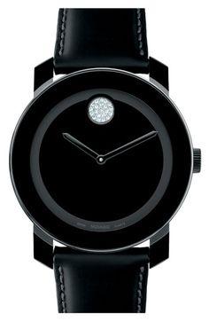 Movado 'Large Bold' Swarovski Crystal Marker Watch available at #Nordstrom