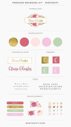 Claire Charles Premade Branding Kit