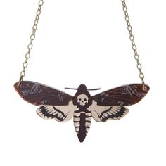 No taxidermy themed collection would be complete without the iconic Deaths Head Hawkmoth! It measures a large wide and is hand assembled from laser cut acrylic. Choose your chain to the right! We hope you enjoy your jewellery! Wear with care :) Jewelry Box, Jewelry Accessories, Jewellery, Bram Stoker's Dracula, Laser Cut Acrylic, Secret Sale, Metal Chain, Laser Cutting, Arrow Necklace