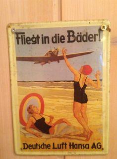 Luft Hansa, alte Werbung
