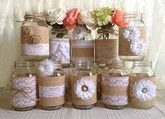 SALE rustic burlap ring bearer pillow with lace handmade flower and rhinestone pearl metal button. Description from etsy.com. I searched for this on bing.com/images
