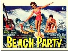 #Beach party, surfing movie #poster, #1960s (30x40cm art print). free shipping,  View more on the LINK: http://www.zeppy.io/product/gb/2/162009625367/