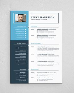 Clean & Modern Resume/cv template to help you land that great job. The flexible page designs are easy to use and customize, so you can quickly tailor-make your resume for any opportunity. Cv Design, Resume Design, Page Design, Graphic Design, Simple Resume, Modern Resume, Resume Writer, Resume Cv, Free Cv Template Word
