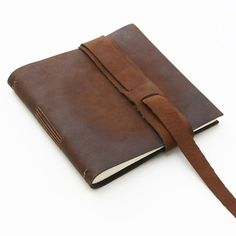Rustic Antiqued Longstitch Book by Badger & Chirp. Love the vertical, woven strap variation.