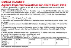 Science important march 2018 board paper ssc 10th standard omtex algebra important questions for board exam 2018 fandeluxe Image collections