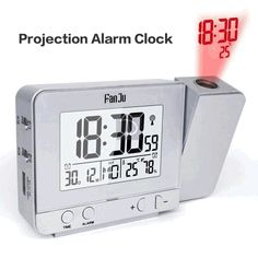 Take your alarm clock to the next level with our Sky Clock. In addition to its clear digital display, the wireless alarm clock actually projects the time and temperature on the ceiling! Radio Alarm Clock, Digital Alarm Clock, Home Decor Items Online, Bedside Clock, Shower Head Holder, Projection Alarm Clock, Digital Projection, Clock Display, Fence Lighting