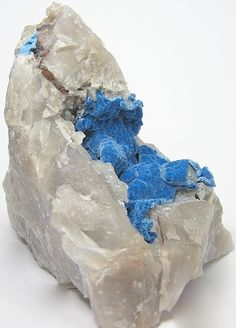 Rare Blue Copper Mineral Shattuckite in by FenderMinerals on Etsy