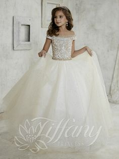 Everything Formals - Tiffany Princess Little Girls Dress 13457, $308.00…