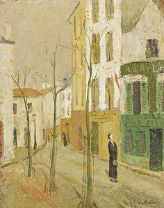 """poboh: """" Scène de rue, André Eugène Louis Chochon. (1910 - 2005) - Oil on Canvas - """""""
