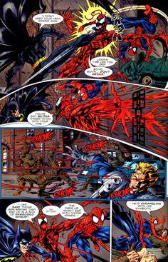 Homem-Aranha, Batman, Carnificina e Coringa. Em uma única revista.