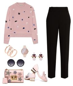 """""""Go Pink!"""" by nino-machabeli on Polyvore featuring Être Cécile, The Row, Jeffrey Campbell, Gucci, Michael Kors, Olivia Burton and Alice + Olivia"""