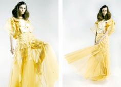Architecture in Vivien Chong collection #dress #fashion #yellow #architecture