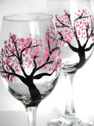 Painting wine glasses!