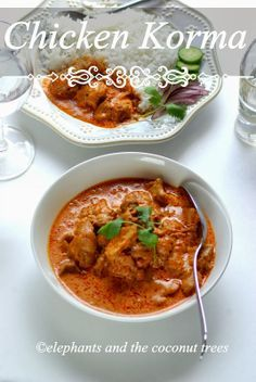 elephants and the coconut trees: Chicken Korma / Shahi Chicken Korma/ Mughlai Cuisine - Guest Post for Abbe's Cooking Antics